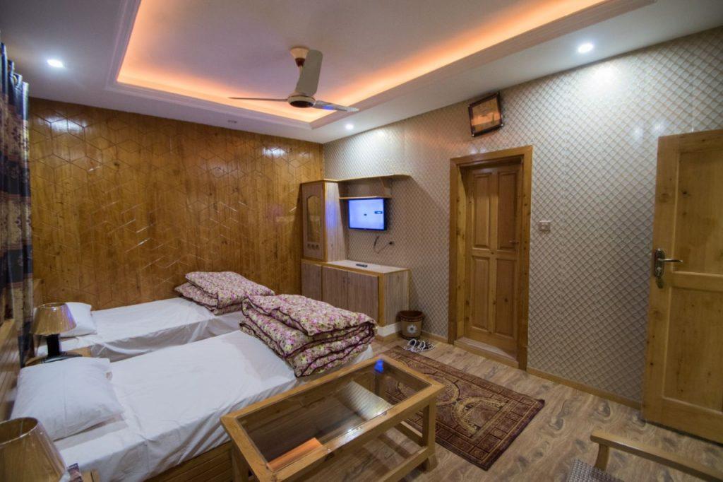 Himalaya-Hotel-Skardu-Twin-Bed-Room