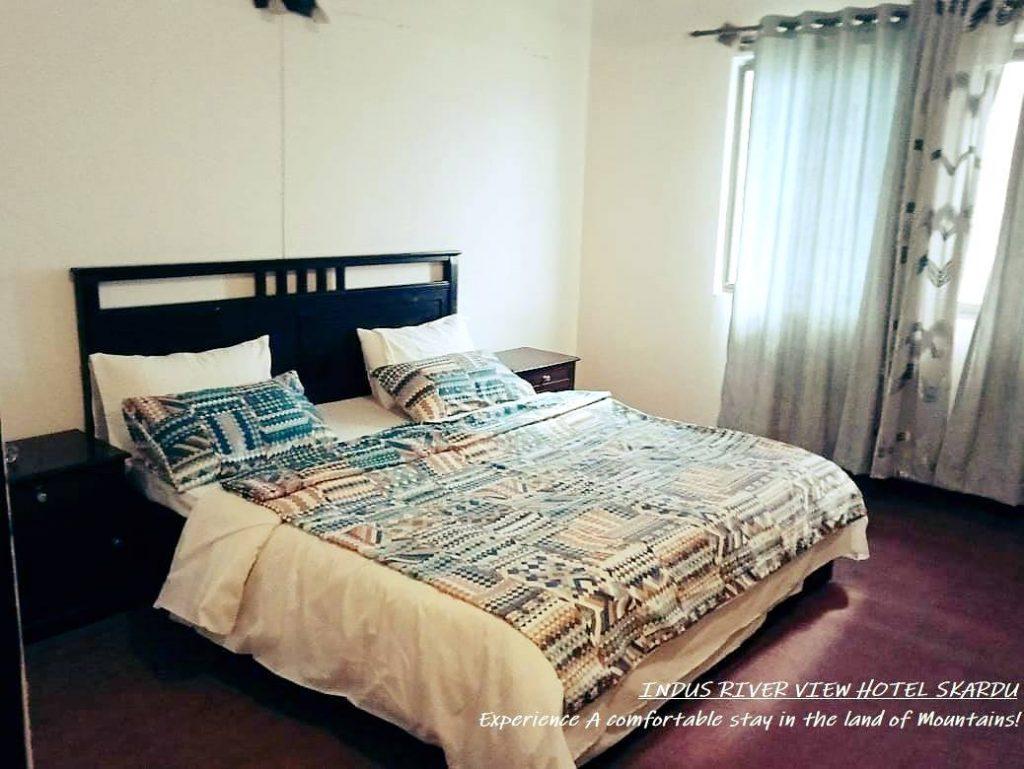 -New-Indus-River-Hotel-Skardu-Master-Bed-Room
